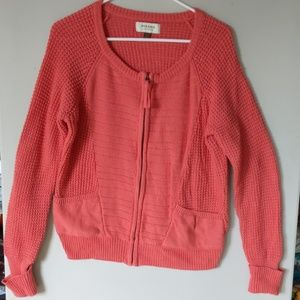 Multi knit Coral/melon cardigan